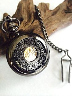 Pocket watch Groomsmen Gift Hollow cut Filigree by Victorianstudio, $53.98