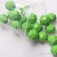 Chunky 22mm Acrylic Solid Lime Green Hexagon Beads From Vcbeads, $13.35 | Dhgate.Com