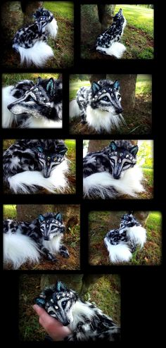 eBay Snow Leopard Wolf Posable! by Wood-Splitter-Lee.deviantart.com