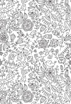Pattern Fleurs Oiseaux Animal Adult Coloring Pages Printable And Book To Print For Free Find More Online Kids Adults Of