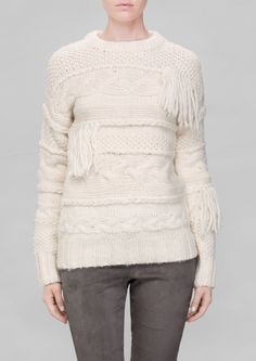 & Other Stories   Fringe Wool Sweater