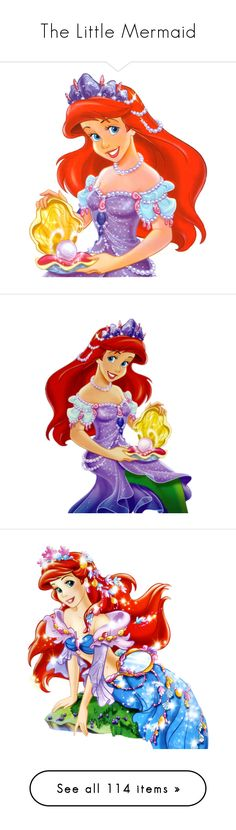 """""""The Little Mermaid"""" by asia-12 ❤ liked on Polyvore featuring disney, ariel, backgrounds, little mermaid, the little mermaid, cartoons, princess, disney princesses, characters and filler"""