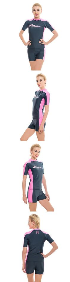 Rash Guards 114256: Women Rash Guard Ladies Two Piece Swimsuits Bathing Suits Swimwear Surfing Vest -> BUY IT NOW ONLY: $34.95 on eBay!