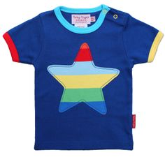 Gorgeously colourful boys Star T shirt from Toby Tiger