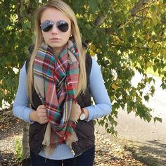 """""""What I planned on wearing before I realized it felt like summer again..➡️ #danielwellington #WearWhatWhereOctober #seasonalstaples #a_classic_touch #fblogger #fashionblogger #fallfashion #blanketscarf #puffervest #prep #preppy"""" Photo taken by @a_classic_touch on Instagram, pinned via the InstaPin iOS App! http://www.instapinapp.com (10/08/2015)"""