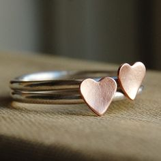 Sterling Silver Stacking Rings - Rustic Romance - Best Friends or Bridesmaids - Your Sizes. $ 40.00, via Etsy.