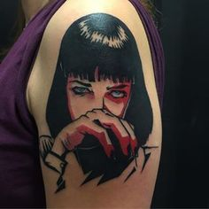 Fun pulp fiction Mia Wallace portrait!
