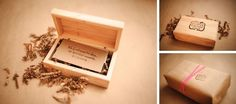 Wood custom flash drive with cute packaging and engraved logos