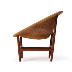 Teak and Wicker Chair by Nanna Ditzel image 4