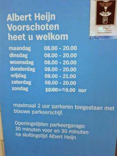 Maar de garage is maar een uur open! #taalvout  (Met dank aan Han Luteijn!)