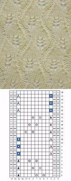 Lace Knitting Stitches, Knitting Paterns, Knitting Charts, Knitting Socks, Hand Knitting, Lace Patterns, Stitch Patterns, Crochet Motif, Knit Crochet