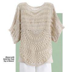 crochet knit poncho