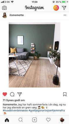 grøn væg med hvid kant Hygge, Gallery Wall, Mood, Living Room, Bedroom, Inspiration, Instagram, Home Decor, Modern
