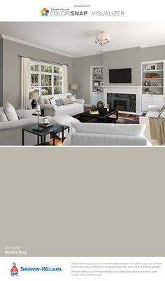 I found this color with ColorSnap® Visualizer for iPhone by Sherwin-Williams: Mindful Gray (SW 7016).
