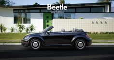 VW Beetle Convertible 50's Edition parked outside during sunrise