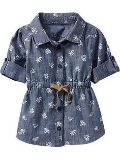 Printed Chambray Tunics for Baby | Old Navy