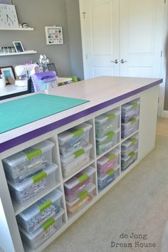 This Brilliant Crafting Table Provides The Perfect Work Environment And Storage…