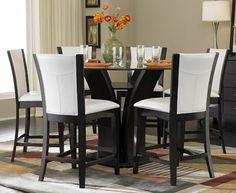 Homelegance - Daisy 5-Pc Round Counter Height Dining Set