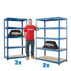Solve your storage woes with our hugely popular, money-saving shelving kit. bays to free up space and bring order to your small business, office or home. Kids Storage, Shed Storage, Garage Storage, Storage Ideas, Workshop Storage, Workshop Ideas, Industrial Shelving, Saving Money, Bring It On