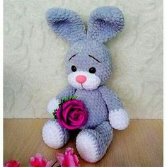 Easter Crochet, Crochet Bunny, Crochet Toys Patterns, Stuffed Toys Patterns, Plush Pattern, Free Pattern, Baby Lux, Amigurumi Toys, Filet Crochet