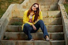 Look blazer amarelo Look trabalho Ensaio fotográfico moda Www.fashionmarigoes.blogspot.com.br