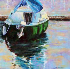 Marina #1 - Joan Applebaum Art: I love this painting and Joan is a friend of mine.