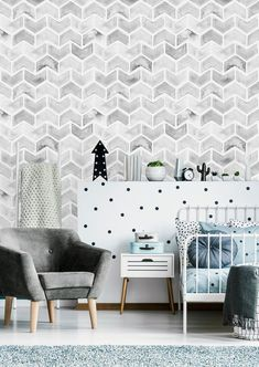 Removable Wallpaper Peel and Stick Wallpaper Self Adhesive Wallpaper Gray Chevron Grey Chevron Wallpaper, Colorful Wallpaper, Gray Chevron, Accent Walls In Living Room, Dining Room Walls, Self Adhesive Wallpaper, Peel And Stick Wallpaper, Gray Painted Walls, Grey Home Decor