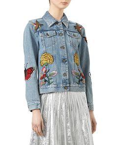 GUCCI // Embellished Denim Jacket
