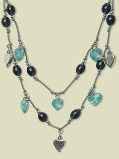 DOUBLE ROW BEADED NECKLACE could make this.