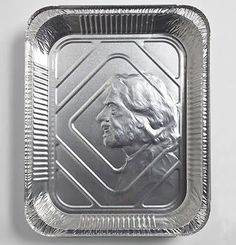 Designer and artist Idan Friedman has created a series of portraits embossed on aluminum foil pans. All the people featured in the collection, named Ordinary People and Disposable Objects, are part of his everyday life, ranging from close friends to passers-by.