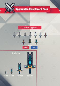 Upgradable Pixel Sword Pack has just been added to GameDev Market! Check it out: http://ift.tt/1XLR41J #gamedev #indiedev