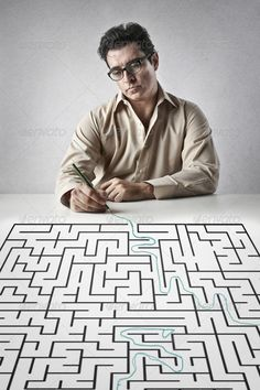 tunnel ...  adult, background, business, businessman, concentration, concept, difficulty, draw, glasses, graphic, handsome, hard, illustration, intelligence, job, labyrinth, line, man, maze, mind, occupation, office, pencil, plan, problem, solution, solve, street, table, text, think, way, write