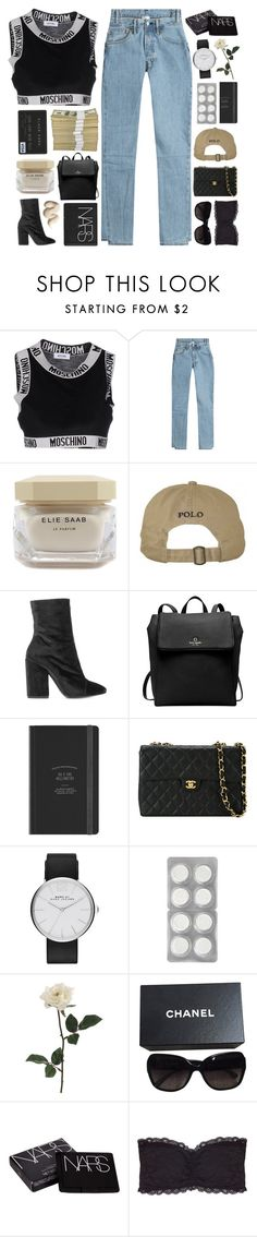 """""""they making enemies of us"""" by celhestial ❤ liked on Polyvore featuring Moschino, Vetements, Elie Saab, Dries Van Noten, Kate Spade, Chanel, Marc Jacobs, NARS Cosmetics and Humble Chic"""