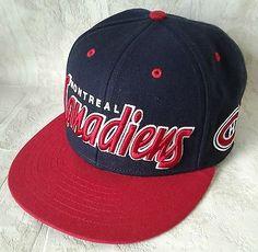 Montreal Canadiens Snapback Hat Habs NHL Vintage Hockey Cap Retro Script 2  Tone Hat Day f351b14490a6