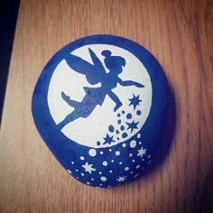 Painted rock / rock painting / rock art / painted stones / tinkerbell