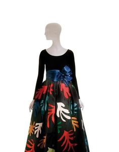 Yves Saint Laurent Long evening dress, inspired by Henri Matisse, haute couture collection, Fall-Winter 1980.