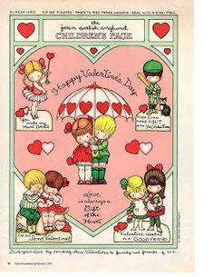 Miss Missy Paper Dolls: Valentine's Pages My Funny Valentine, Valentine Theme, Valentine Day Love, Vintage Valentines, Valentine Cards, Joan Walsh, Vintage Paper Dolls, Naive Art, Crafts To Make
