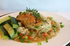 Braised Chicken Breasts in Tasty Mirepoix Ragout Recipe Healthy Meal Prep, Healthy Recipes, Yummy Recipes, Ragout Recipe, Braised Chicken Thighs, Low Sodium Chicken Broth, Chicken Breasts, Food Dishes
