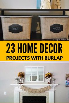 Are you looking for a few easy DIY projects that you can make with burlap? This complete DIY guide features amazing DIY project ideas (Christmas gifts, Halloween decor, or Fall table settings) that are perfect for your home. Burlap is easy to work with and inexpensive to use for any DIY craft project. Learn how to use burlap for your creative DIY project ideas. Affordable Home Decor, Easy Home Decor, Cheap Home Decor, Do It Yourself Decorating, Decorating On A Budget, Easy Diy Crafts, Diy Craft Projects, Project Ideas, Fall Table Settings