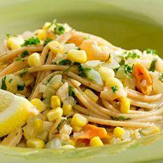 Spaghetti with Clams and Corn