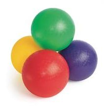 Kickballs (give a kickball to each kid as a party gift for Reed's kickball party)