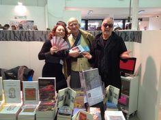 L'editore con lo scrittore Pierfrancesco Prosperi e l'artista Franco Ionda.
