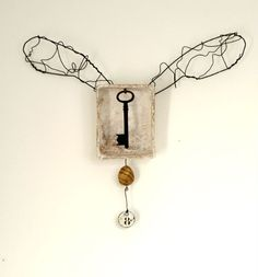 Hypothesis, winged key assemblage with plaster by Laly Mille