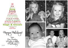 Cute idea for a photo Christmas card!
