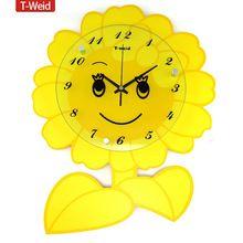 arco di legno amaca parete del fumetto di modo orologio bambino reale muto orologio al quarzo orologio da tasca(China (Mainland))