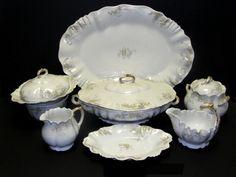limoges dinnerware | 156: A. Lanternier Limoges France Dinnerware Set