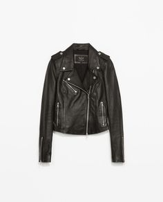 Image 5 of LEATHER BIKER JACKET from Zara