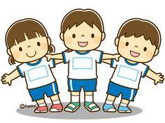 運動会で組体操をする子どものイラスト(ソフト)
