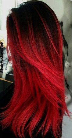 dark red hair color cherry ombre hair red pompadour wig black and red ombre hair orange ginger hair red hair dye for black hair - Hair Color Ideas Dye Black Hair Red, Dyed Red Hair, Black Ombre, Red Hair For Short Hair, Red Hair Ends, Red Hair Red Dress, Straight Hair, Red Hair Male, Ombre Short Hair Red