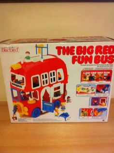 Bluebird-Big-Red-Fun-Bus-Boxed-with-Figures-Accessories-Classic-1980s-Toy